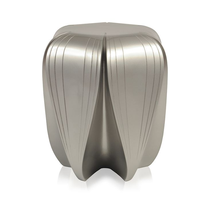 Discover the Zaha Hadid Radia Stool - Metallic Silver at Amara