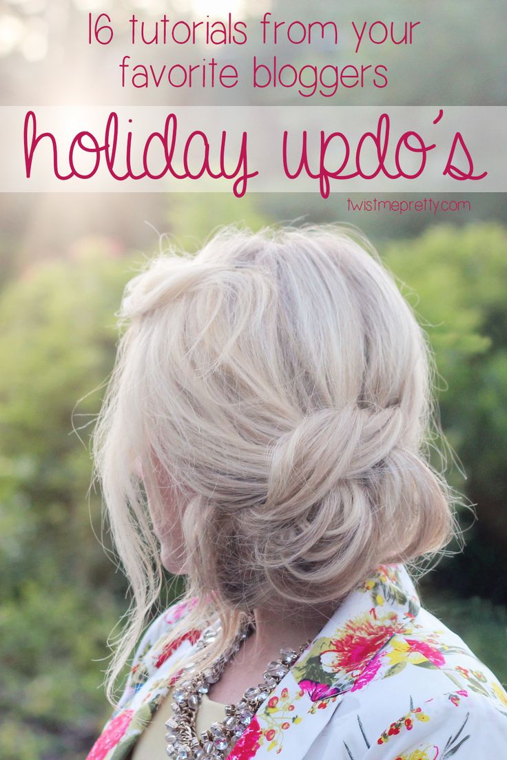 holiday updo's