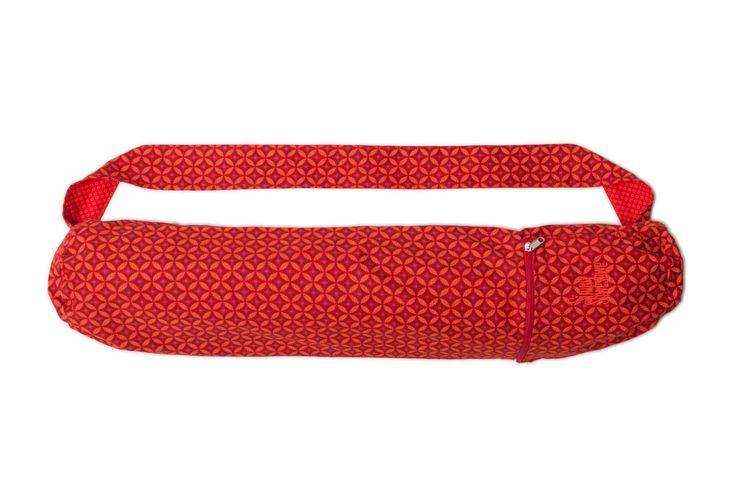 Red Flame Yoga Mat Bag, Red Mat Bag, Shweshwe Yoga Mat Bag, Yoga/Pilates Mat…