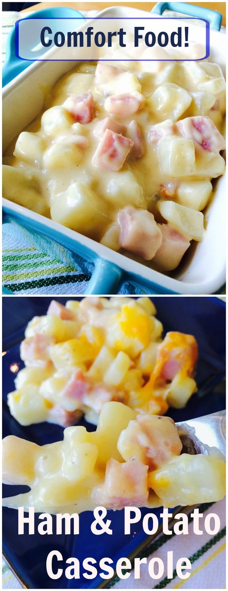 When you want something warm and comforting this Ham and Potato Supreme is just the answer. The velvety cheese sauce blankets the ham and potatoes making it the perfect cool weather comfort food!