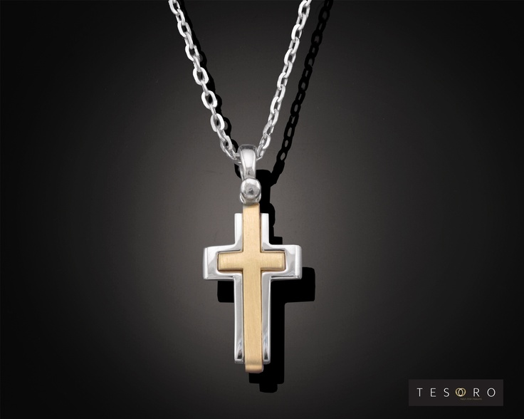 Tesoro Cross - 9 karat GV336/9CR YW $249.00 Approximate Length - 2.50cm  Tesoro Chain - 9 Karat GV297/9CH WG $255.00 50cm in length - 45cm $220.00  MADE IN ITALY