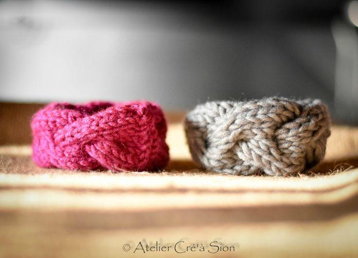 Bracelets tricotés tressés commandés