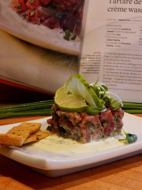 Madame Anne aux fourneaux: Tartare de thon aux câpres, créme wasabi