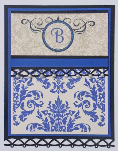 Monogram card designed by Angela Barkhouse