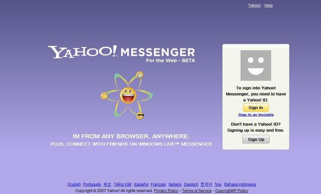 Everything You Need to Know to Use Yahoo's Online Messenger: Navigate to the Yahoo Messenger Web Site