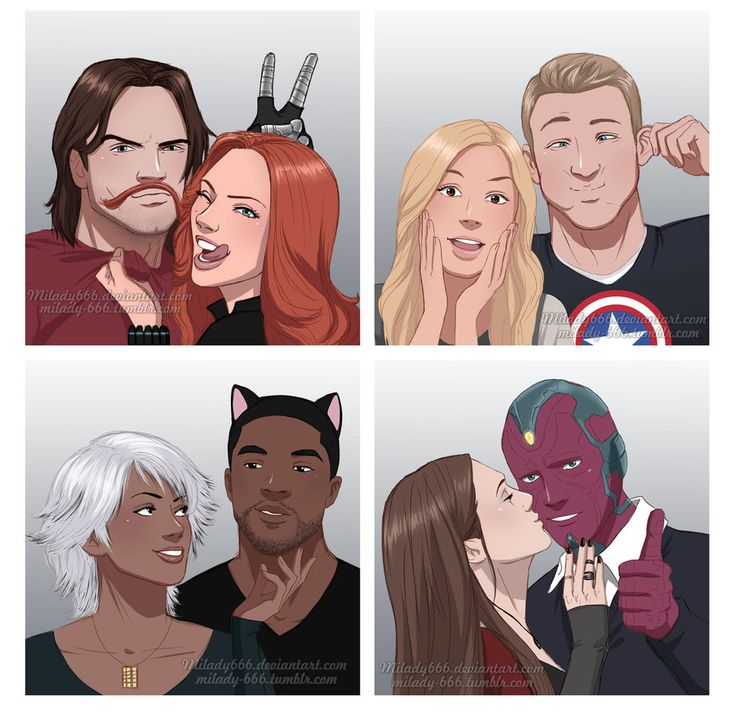 MY LIFE IS COMPLETE!!! Marvel couples unite!!! WinterWidow, Captain13, BlackStorm, ScarletVision