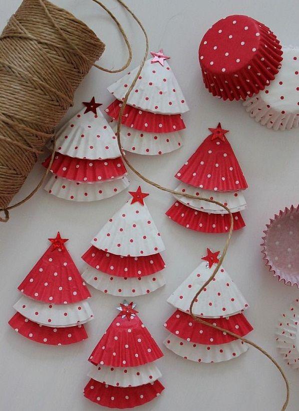 M s de 25 ideas incre bles sobre guirnaldas de navidad en - Guirnaldas navidad manualidades ...