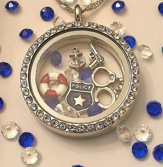 Officer Down Memorial Locket-Creatively Crafted Floating Lockets-The Copper Closet