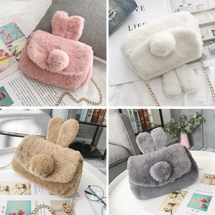 Women's Plush Handbag Rabbit Ears Shoulder Bags Clutch Tote Messenger Crossbody #Unbranded #MessengerCrossBody