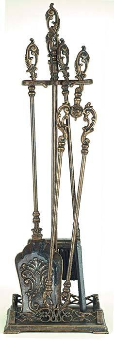 Fireplace tools from Victorian Trading Co.