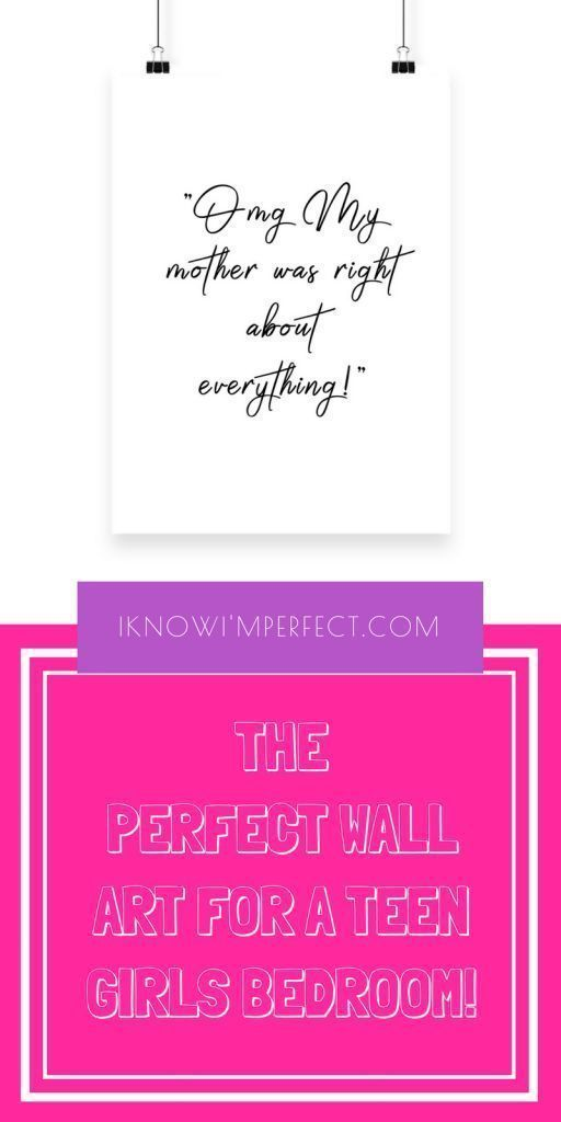 Wall decor quotes | teen room decor ideas | girl room decor | teen girls room | bedroom decor| cute room decor | wall decor ideas | Room decor | Teen wall decor | bedroom wall decor | funny quotes | sarcastic quotes | large print online | spring home decor |dorm room decor | bedroom art print  Check out the full collection of gorgeous girly art prints right here: www.iknowimperfect.com #girlrooms