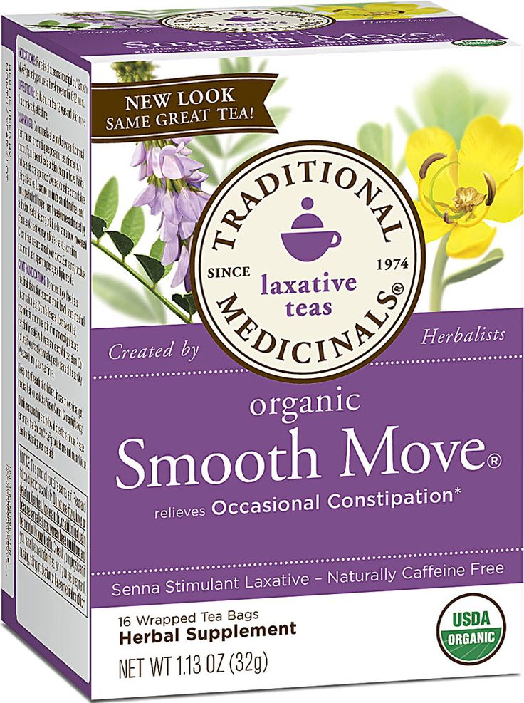 Traditional Medicinals Organic Smooth Move® Herbal Tea Unflavored ...