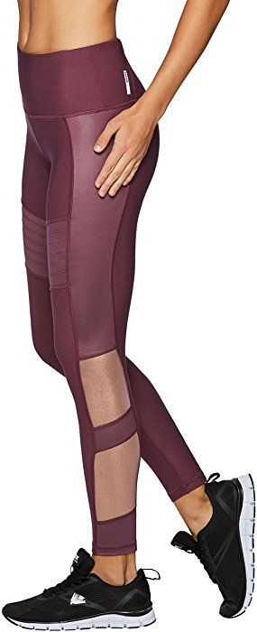 e9839b3a826 RBX Active Women s Mesh Moto Workout Leggings Pink L at Amazon Women s  Clothing store