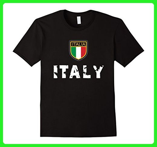 Mens Italy Soccer Tshirt - Italian Souvenir T-Shirt XL Black - Cities countries flags shirts (*Amazon Partner-Link)