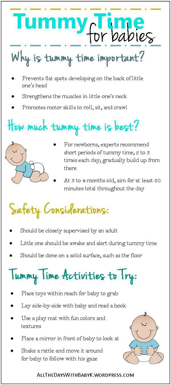 Tips for Tummy Time. Tummy time is a frequent activity in our house. This post explains why it's important, how much tummy time is best, tummy time safety considerations, and tummy time activities to try.