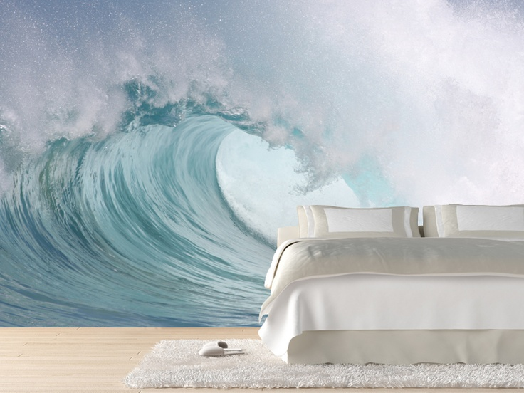 Beautiful, Waves and Wall murals on Pinterest