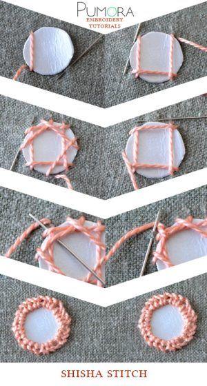shisha stitch embroidery stitch tutorial