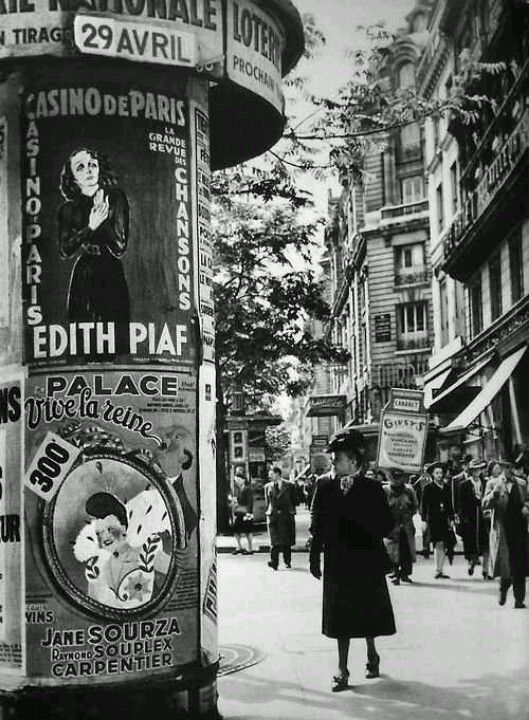 Edith Piaf is my mother's fave French singer whom I've come to adore!  Je' Taime!  Vintage Paris