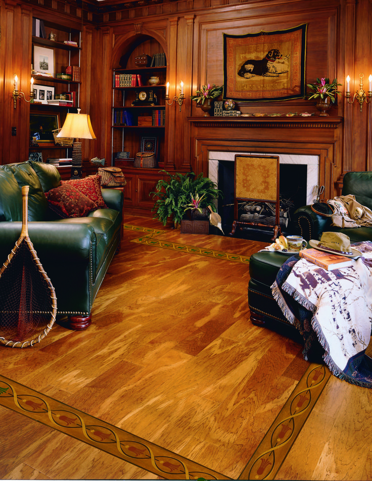 Look How The Lighter Hard Wood Floors Make The Room