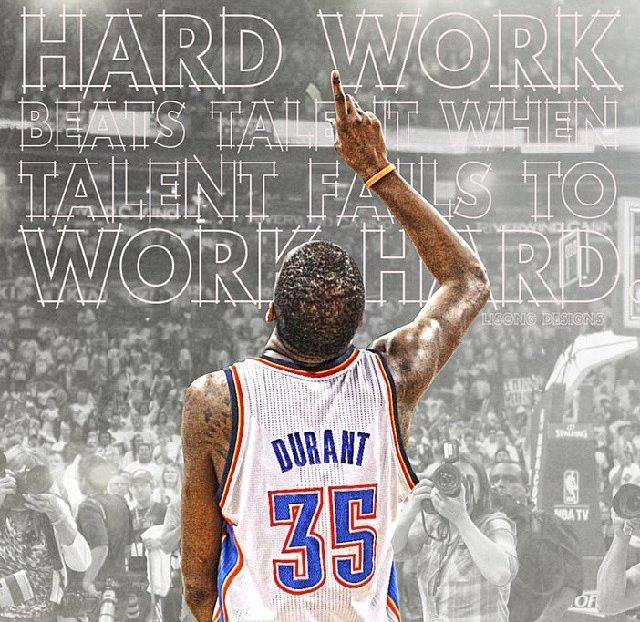 Hard Work Beats Talent Quotes: 107 Best Images About Kevin Durant On Pinterest