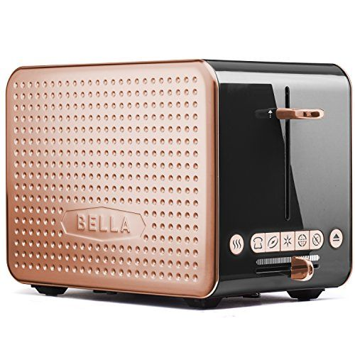 Bella Housewares | Dots Collection 2.0 2-Slice Toaster, Black and Copper in Collections Toasters and Toasters and kitchen from bellahousewares.com