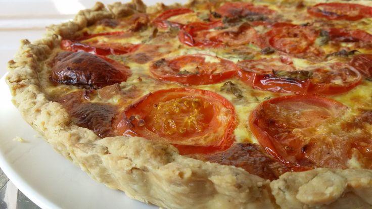 Tarte thon / moutarde / tomate et basilic
