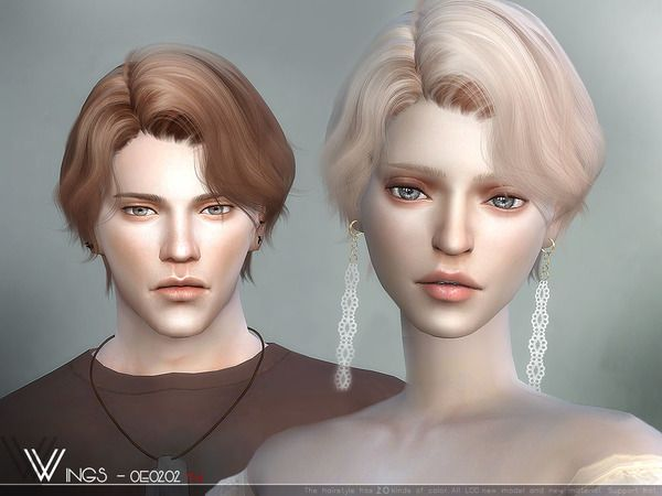 Sims 4 Cc Custom Content Male Or Female Hairstyle The Sims Resource Sims4 Sims4cc Wingssims Wings O Sims Hair Sims 4 Hair Male Short Hair Styles