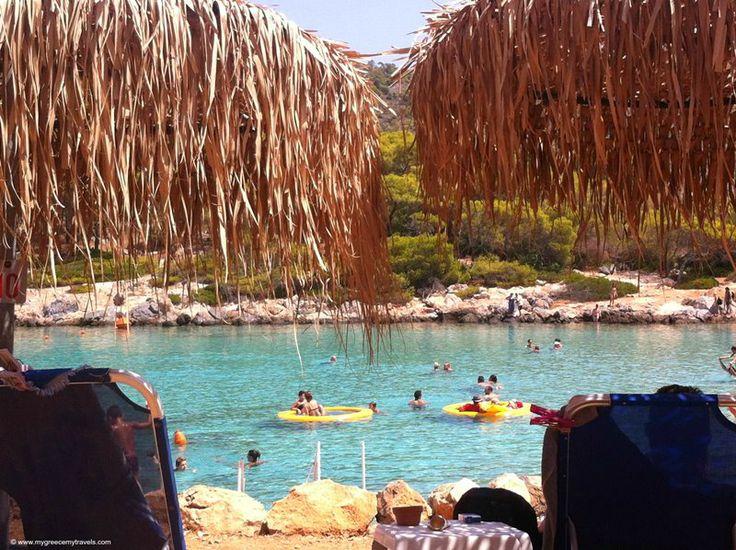 View from my beach chair. Αγκίστρι (Agkistri) in Αγκίστρι, Αττική