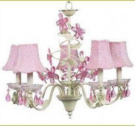Pink Crystal Chandelier Kids Room