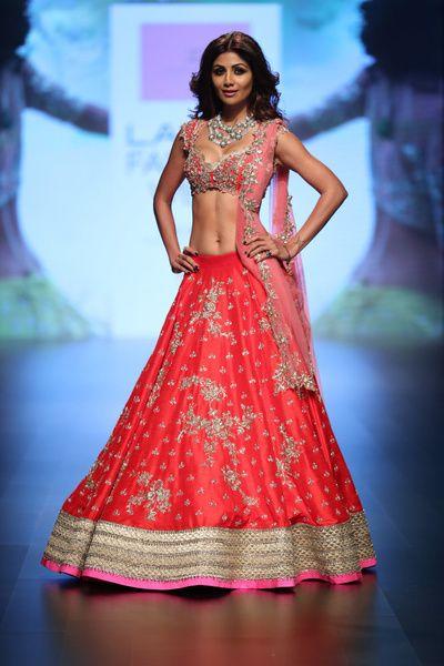 Anushree reddy bridal lehenga , red raw silk lehenga