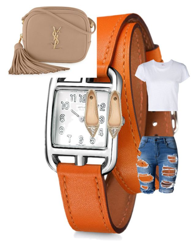 """Tradición"" by marianaestrella60 on Polyvore featuring Hermès, RE/DONE, River Island y Yves Saint Laurent"