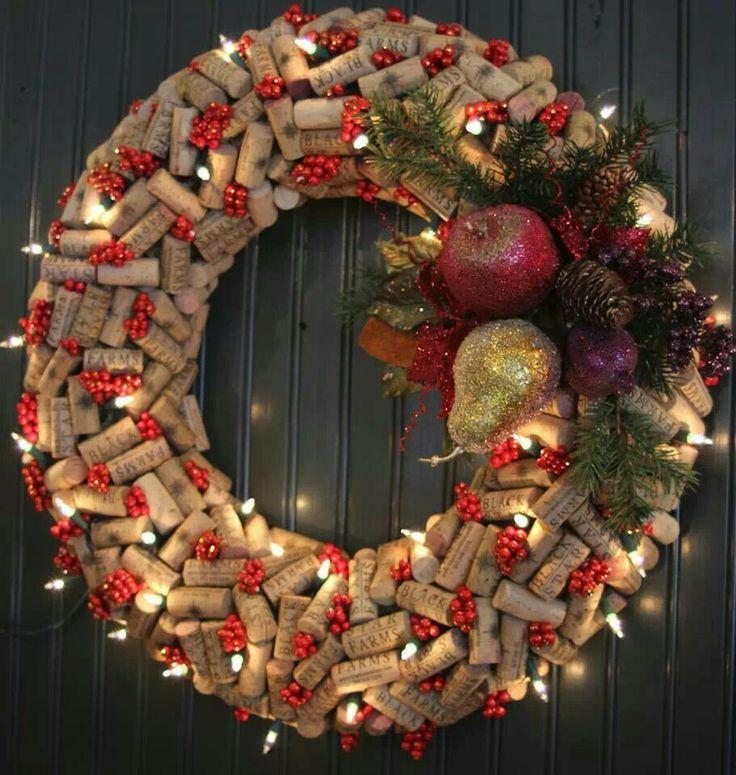 Wine cork wreath 23 best Diy images