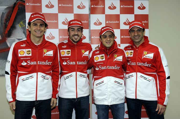 Pedro De la Rosa, Fernando Alonso, Felipe Massa y Marc Gené