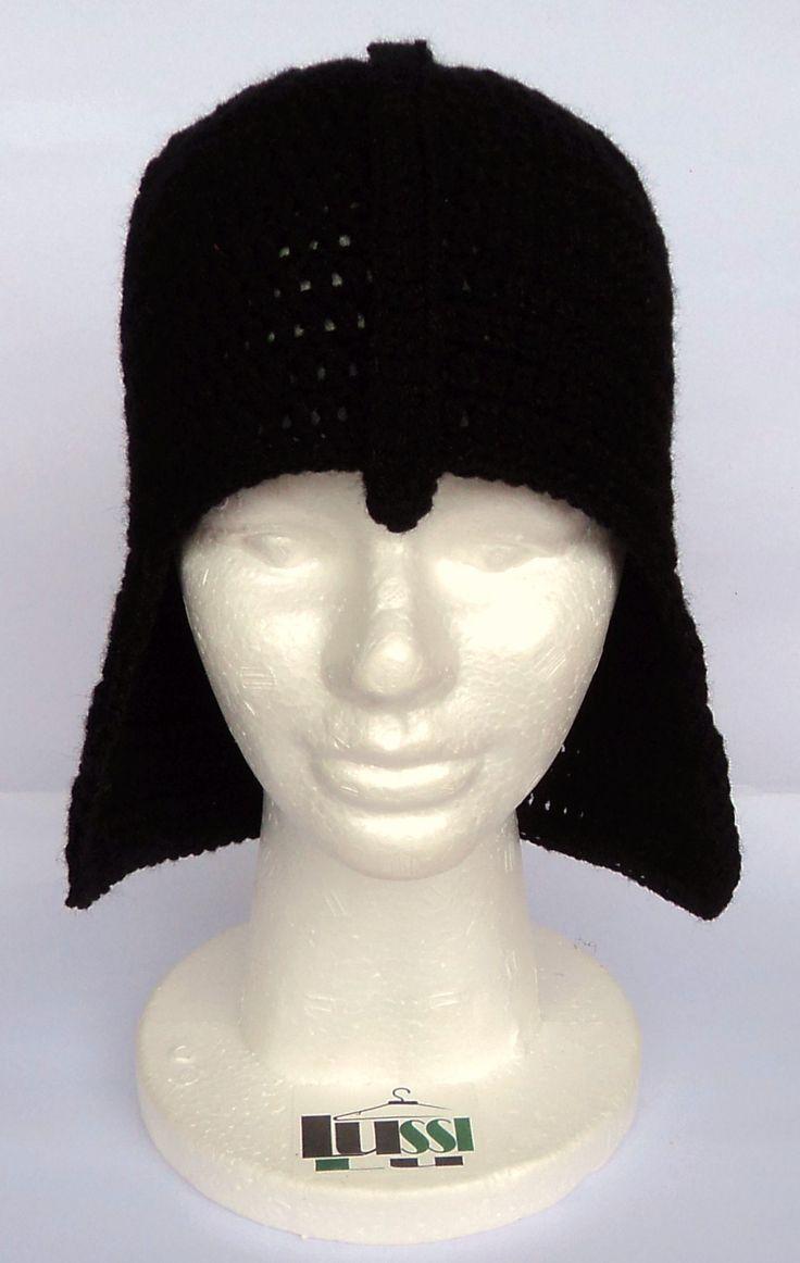 Gorro Tejido En Crochet - Darth Vader - Star Wars - Lussi Lu