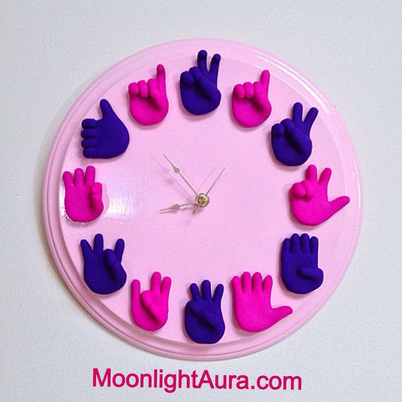 Custom American Sign Language Clock  - Made to Order