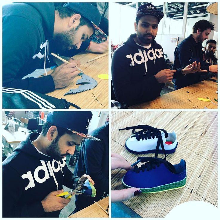 Just making a shoe at @adidas
