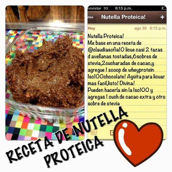 Aqui la receta de Nutella proteica!! ❤ #Chocoholic gracias @claudiasofia10 por la idea!!! Photo - Sascha Barboza | Lockerz