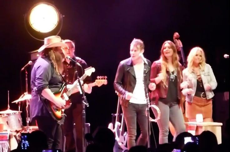 """Chris Stapleton brought out special guests Miranda Lambert and Anderson East for this soulful cover of the Temptation's classic, """"My Girl."""""""