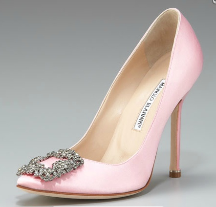 Ohhhh The Perfect Wedding Day Heels Manolo Blahnik Hangisi Satin Pump In Light Pink