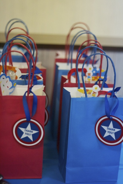 Captain America Party Treat Bags-Simply Social Blog