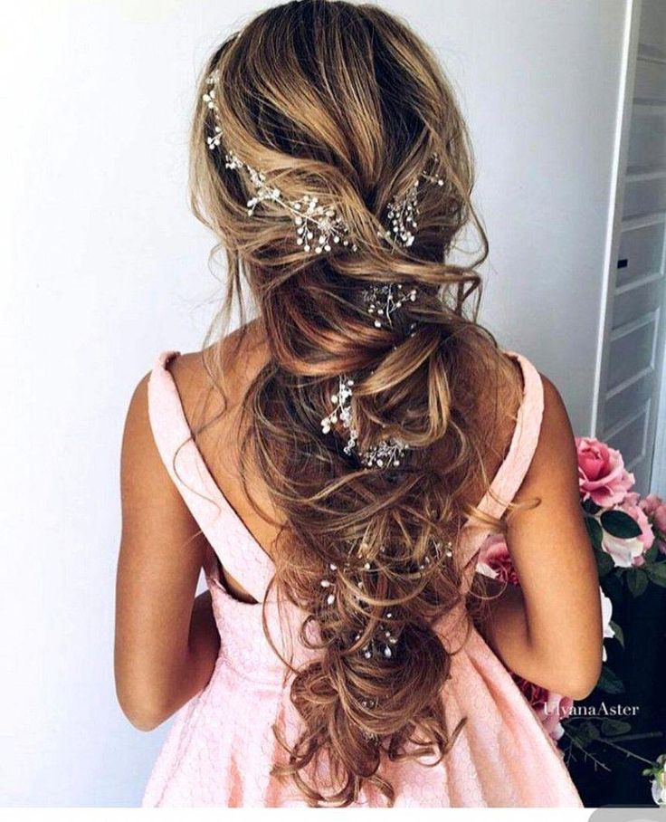 Handmade Crystal & Pearl Princess Hair Vine #WeddingHairstylesForLongHair #Brief…