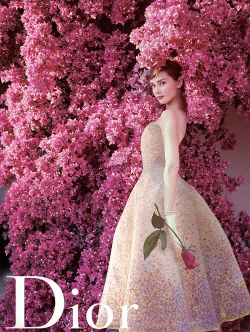 brunchatbergdorfs: Audrey Hepburn for Miss Dior (1955)
