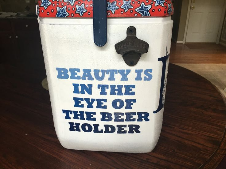Beauty is in the eye of the beer holder bottle cap opener painted cooler
