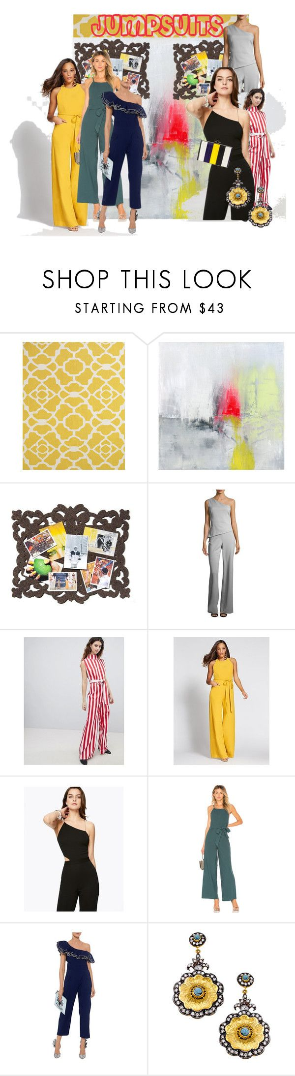 """""""One and Done: Jumpsuits #2"""" by audreyonline ❤ liked on Polyvore featuring BD Fine, Mio, Cushnie Et Ochs, Unique21, New York & Company, Ramy Brook, Line + Dot, Sea, New York, Meghna Designs and Jason Wu"""