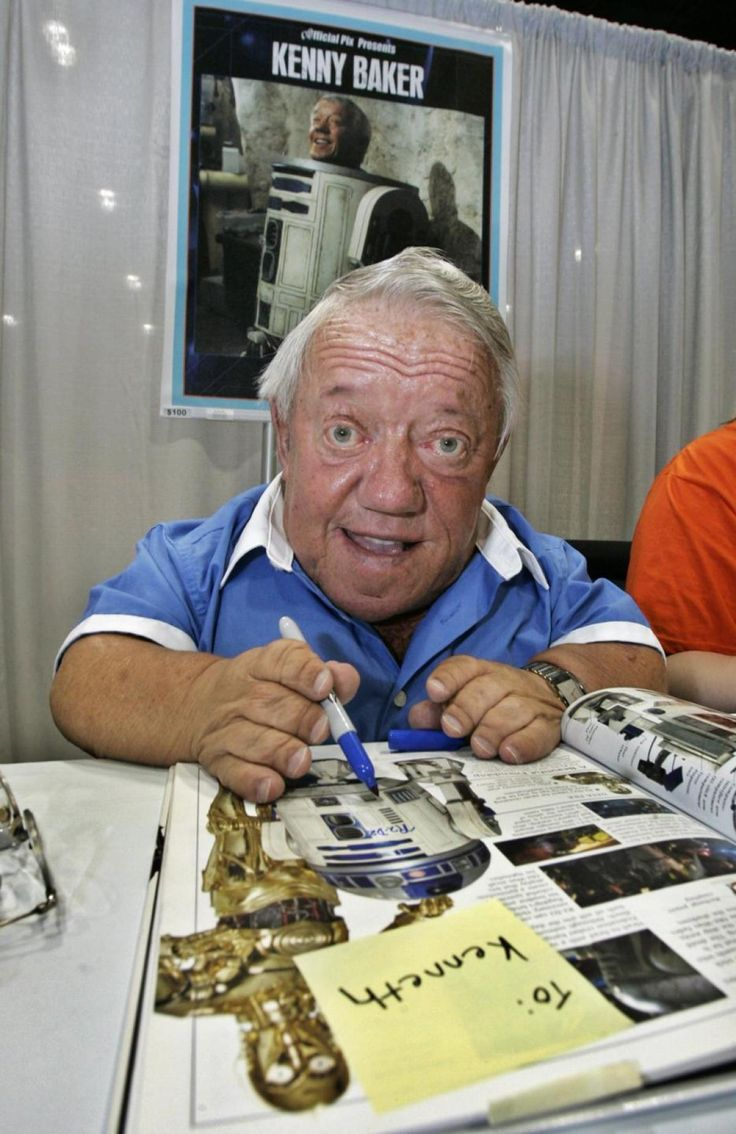 """Actor Kenny Baker, who portrayed the R2-D2 in several """"Star Wars"""" movies, passed…"""