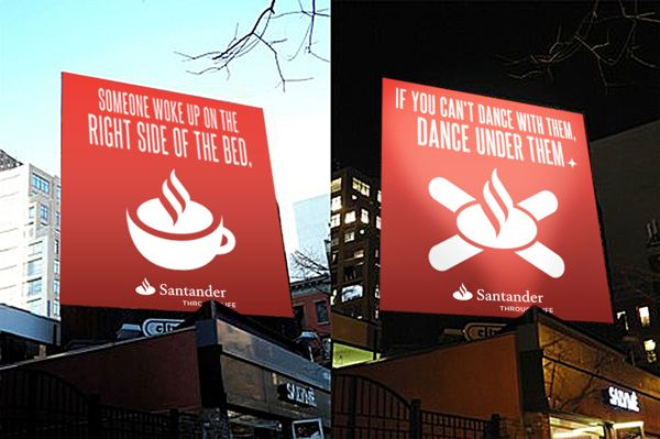 Santander Bank billboards! Nice!