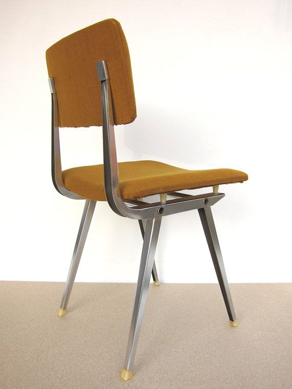 Friso Kramer style chair REUPHOLSTERED with its ORIGINAL Fabric; Spanish 1950s chair inspired in Friso Kramer Result