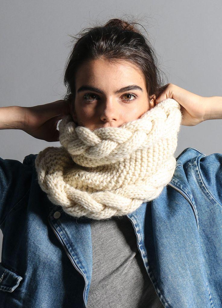 REDE PORTAIS - O PORTAL DO VETOR DO NORTE fb99ad5c9fccf476e560b6cc878cad80--knitting-kits-snood Gola de tricô: veja diferentes modelos e maneiras de usar a peça MODA & BELEZA