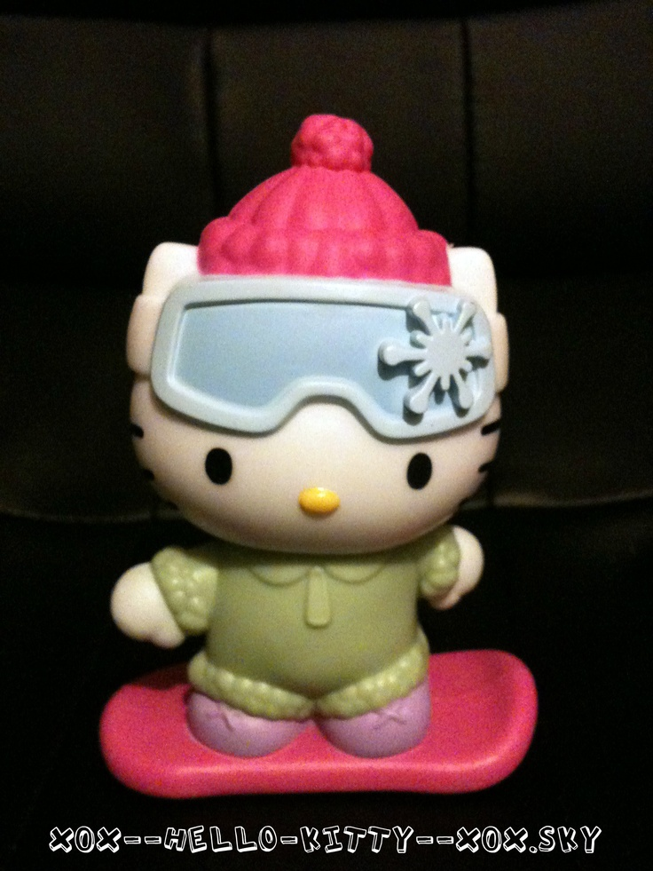 Snow Boarding Hello Kitty