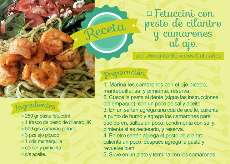 17 best cenas romanticas images on pinterest romantic dinners fetuccini con pesto cilantro y camarones al ajo forumfinder Choice Image